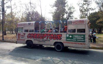 El Corruptour hará recorridos para exhibir a políticos y empresarios en la CDMX