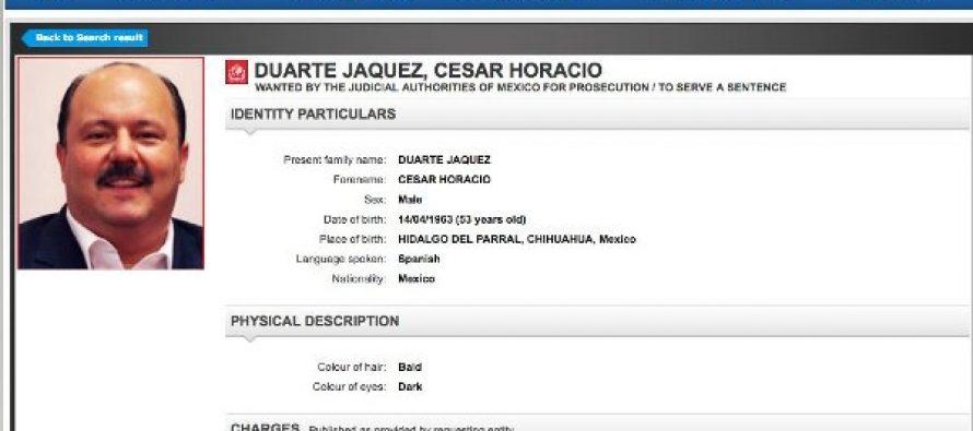 César Duarte ya tiene ficha roja de la Interpol