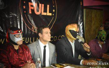Tinieblas Jr, Alberto Del Río, Octagón y Zumbi presentaron el regreso de FULL con nueva imagen