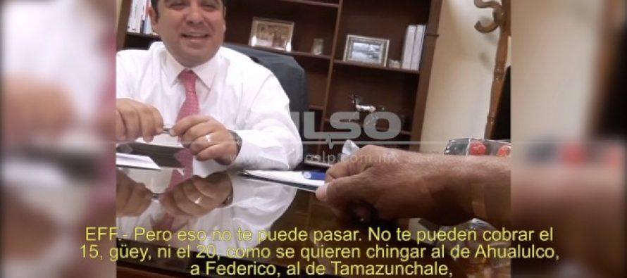 Grabación exhibe a diputado panista sobornando a alcalde de Ébano, SLP