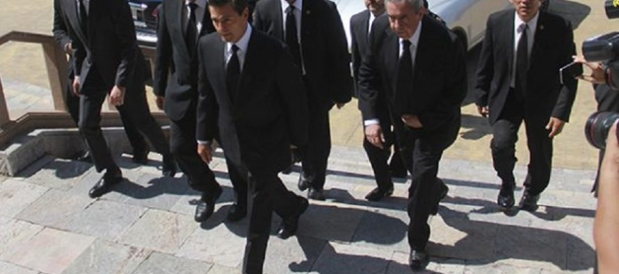 Presidente Peña Nieto asiste a funeral de arzobispo ortodoxo Antonio Chedraoui