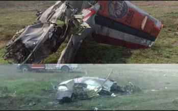 Con golpes leves, tripulantes de aviones militares accidentados
