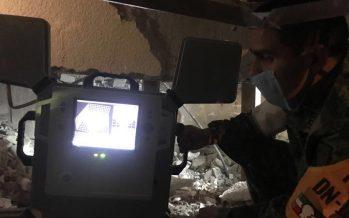 Utiliza SEDENA aparatos que detectan movimientos dentro de los escombros