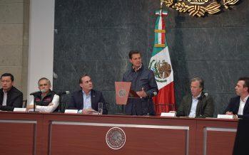 Peña Nieto convoca a la IP a participar en la reconstrucción