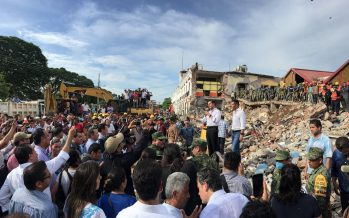 Presidencia de México agradece apoyo en labores por sismo