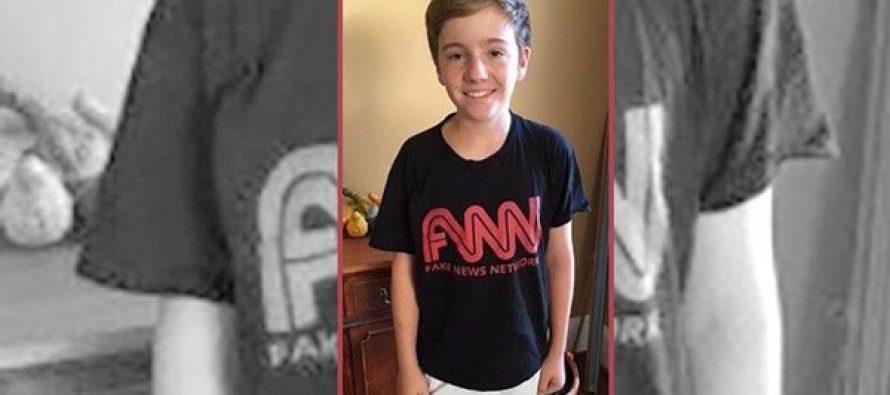 "Prohíben a escolar entrar a CNN; su camiseta decía ""Noticias falsas"""