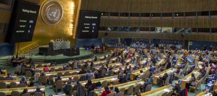 ONU condena embargo a Cuba, EU e Israel se oponen