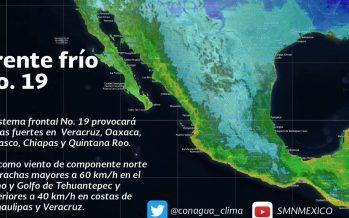 Ambiente frío por la mañana y noche en gran parte del país