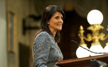 """Nikki Haley a Irán: """"Estamos viendo lo que hacen"""""""