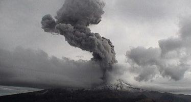 Alertan de posible caída de ceniza, tras explosión del Popo