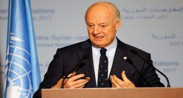 """De Mistura convoca gobierno sirio y """"oposición"""""""