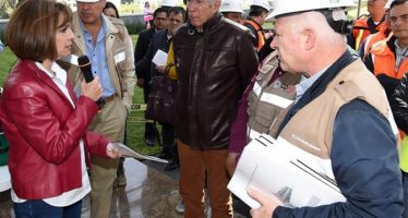 Ruiz Esparza supervisa avances del Tren Interurbano México-Toluca