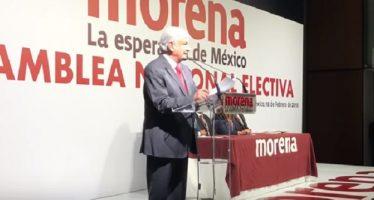 AMLO, candidato de Morena; ofrece terminar con la corrupción