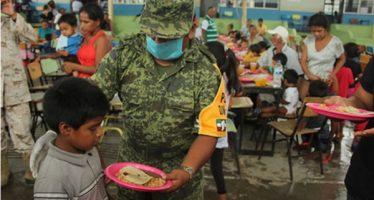 Aplican SEDENA el Plan DN-III-E, en 3 municipios de Oaxaca