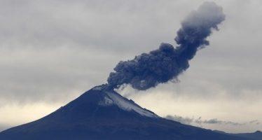 Popocatépetl presenta 56 exhalaciones de baja intensidad