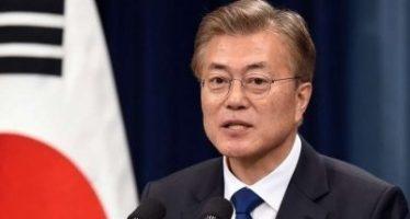 Presidente surcoreano se reúne con jefe de delegación norcoreana
