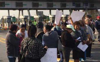 Cerradas plazas de cobro de Circuito Exterior por manifestantes
