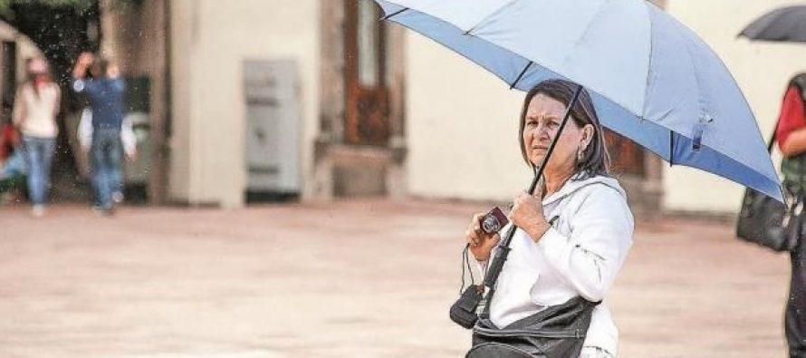 Lluvia dispersa y chubascos se prevén en la Ciudad de México