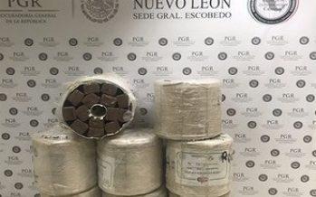 Aseguran 240 kilos de marihuana en empresa de paquetería en NL