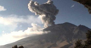 Aumentan exhalaciones del Popo; alerta volcánica continúa en Fase 2