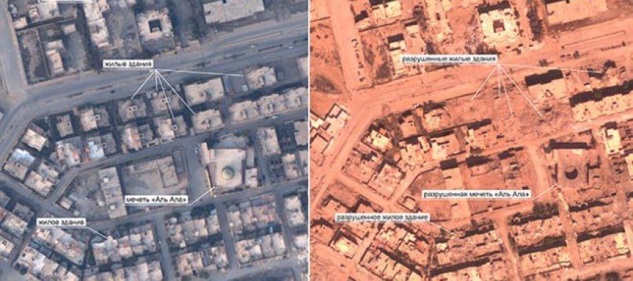 Muestra Rusia la destrucción de Raqqa, por la Coalición