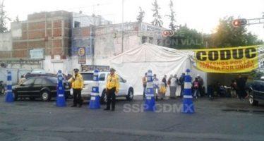 Bucareli permanece cerrada por presencia de manifestantes