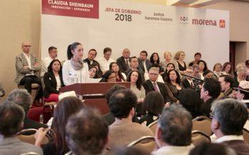 Sheinbaum presenta propuestas rumbo a Jefatura de Gobierno
