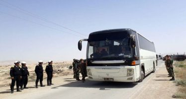 1500 terroristas y sus familiares salen de Dumair hacia Jarablus