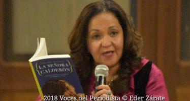 """Sanjuana Martínez presentó su libro """"La Señora Calderón"""""""