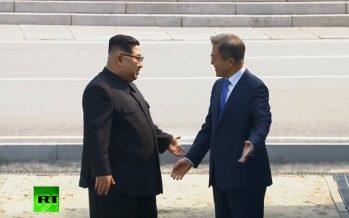 Kim Jong-un recibe en Pionyang al presidente de Corea del Sur