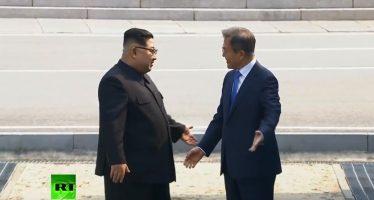 Moon visita brevemente Corea del Norte