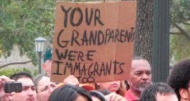 Trump amenaza con represalias a marcha de inmigrantes