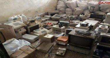 Ejército halla armas y municiones ocultas por terroristas en Damasco