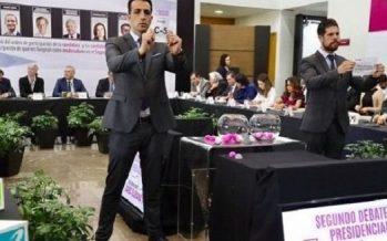Sortea INE participación de candidatos durante segundo debate