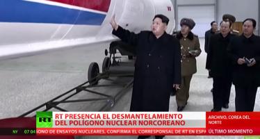 RT asiste el cierre del polígono nuclear norcoreano