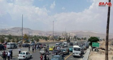 Reabren salida norte de Damasco, bloqueada por terrorismo desde 2013