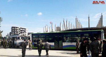 Sexta partida de terroristas sale del sur de Damasco