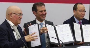 Firman convenio INE y ASF para fortalecer fiscalización