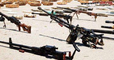Ejército incauta cargamento de armas con destino a terroristas en Idleb