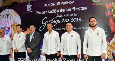 "Presentan en la capital del país ""Julio, Mes de la Guelaguetza 2018"""