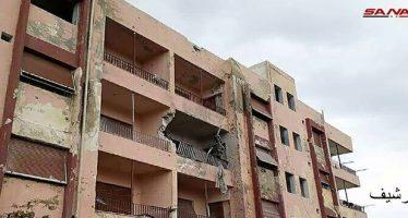 Daños materiales en ataques terroristas en Quneitra y Deraa