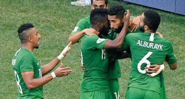 Arabia Saudita vence de último minuto a Egipto en Rusia 2018