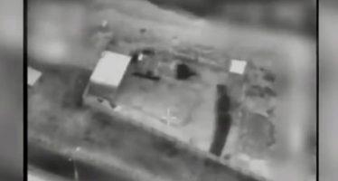 Momento exacto del último bombardeo israelí en Gaza
