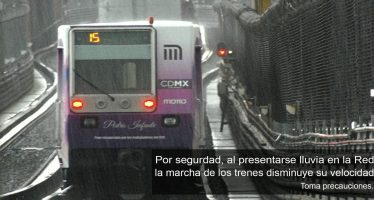 Metro activa marcha de seguridad por lluvias