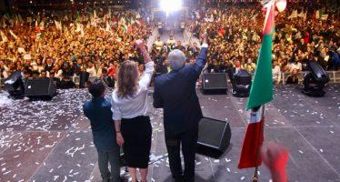 Aumenta ventaja de López Obrador con 55.87 % de votación