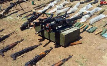 Autoridades competentes incautan armas de terroristas en Homs