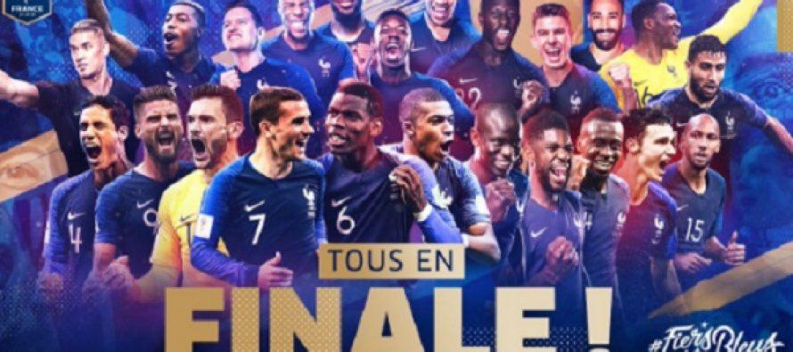 Francia, primer finalista; derrota a Bélgica por 1-0