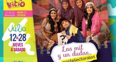Cartelera del 25 al 29 de julio en el Teatro Bar El Vicio