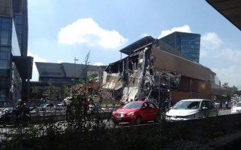 Momento del desplome de la plaza Artz
