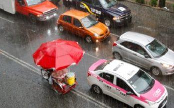 Lluvia ligera en tres delegaciones de la capital